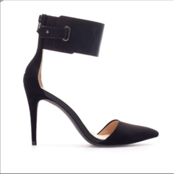 7f3aa485a96 Zara Trafaluc Vam Ankle Strap Pumps D orsay Heels.  M 5bed28458ad2f96350f14c03. Other Shoes ...